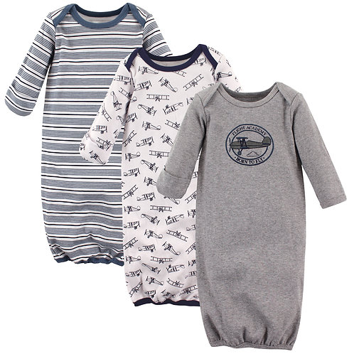 Aviator Infant Gowns by Luvable Friends