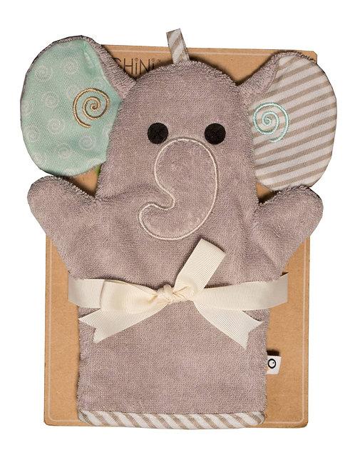 Elle the Elephant Snow Terry Bath Mitt
