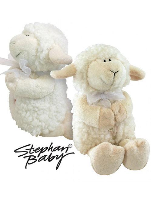 Stephan Baby Woolly Praying Lamb, Cream