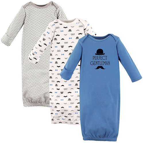 Little Gentleman 3 Pack Infant Gowns by Luvable Friends