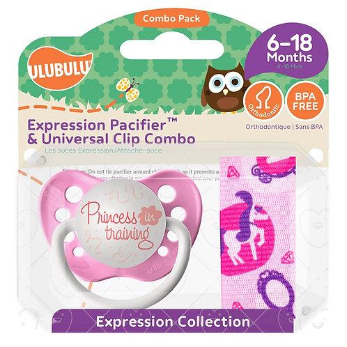 Princess in Training Pacifier and Pacifier Clip, Ulubulu