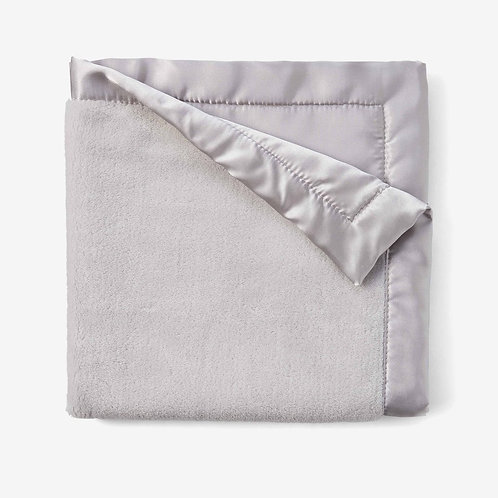 Coral Fleece Baby Security Blanket with Satin Trim by Elegant Baby