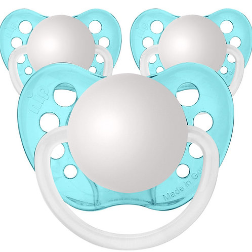 Baby Name Pacifiers - 3 Pk Transparent Blue, Ulubulu, Personalized Pacifiers