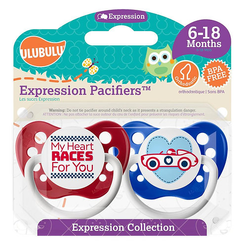 My Heart RACES For You Race Car Pacifier Set