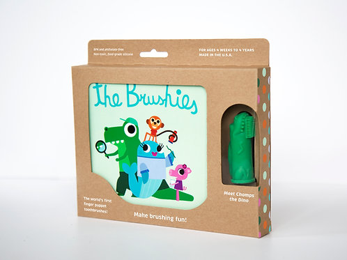 The Brushies Book and Brush gift set, Chomps the Dino