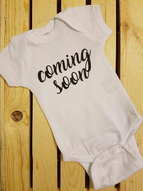 Coming Soon Onesie - pregnancy announcement