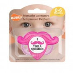 Mustache Accessory Pacifier Set