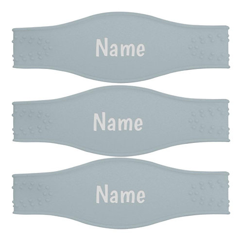 Gray baby bottle bands