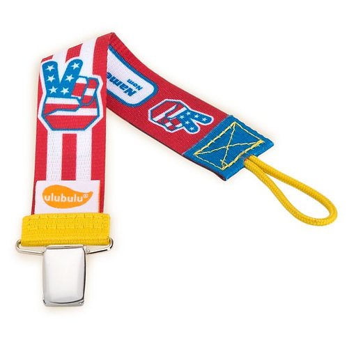Patriotic Pacifier Clip