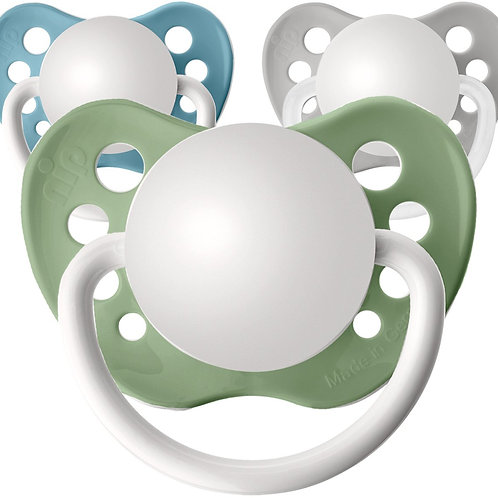 Baby name pacifiers, 3 pack mountain colors