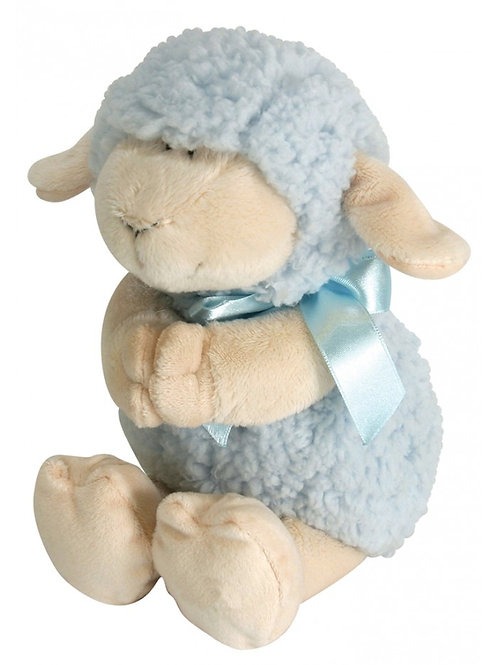 Stephan Baby Woolly Praying Lamb, Blue