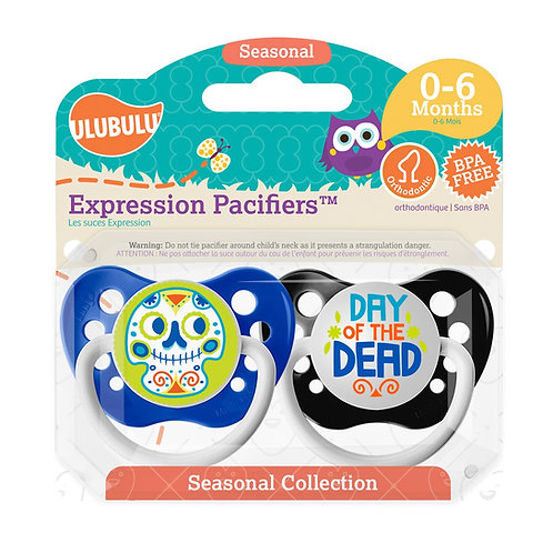 Day of the Dead Boy's Holiday Pacifier Set