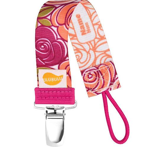 Mauve Roses pacifier clip by Ulubulu