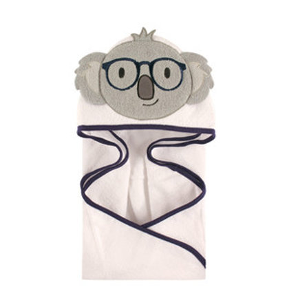 Hudson Baby Smart Koala Animal Face Hooded Towel