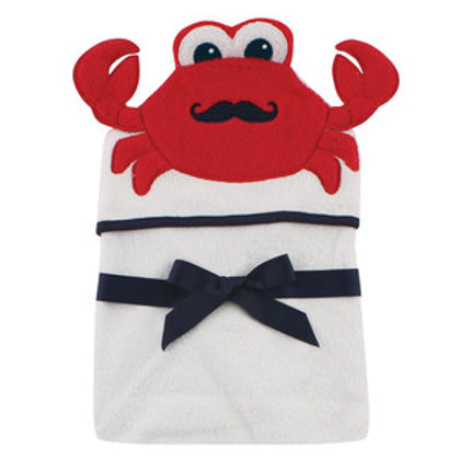 Hudson Baby Mr. Crab Animal Face Hooded Towel