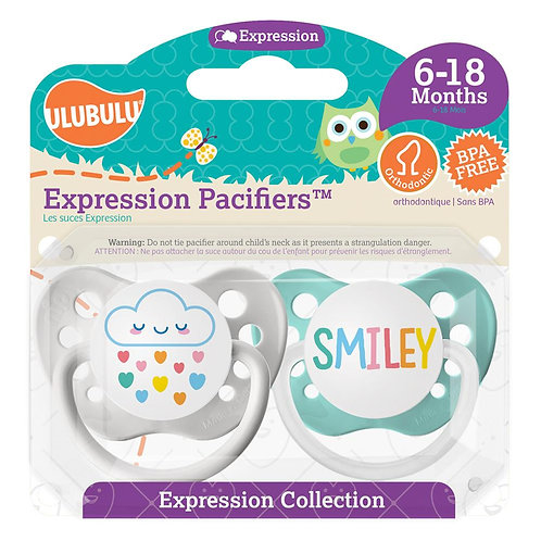 Cloud Rainbow & Smiley Pacifier Set
