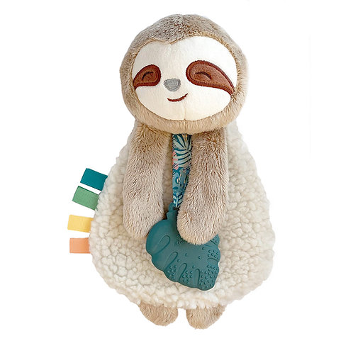 Itzy Ritzy Lovey, Plush and Teether Toy Brown Sloth
