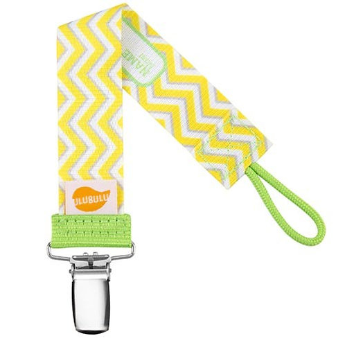 Yellow Chevron Pacifier Clip