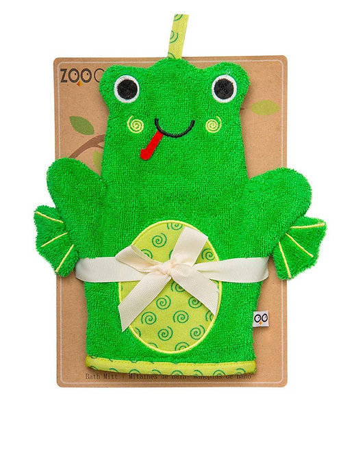 Flippy the Frog Snow Terry Bath Mitt by Zoocchini
