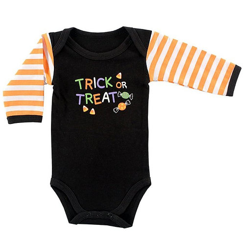 Long Sleeve Trick or Treat Bodysuit