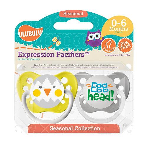 Chicken & Egg Head Pacifier Set - Easter