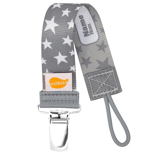 Grey Stardust Pacifier Clip Personalized Pacifier Clip by Ulubulu