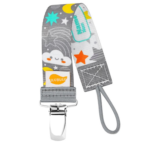 Moon and Stars Pacifier Clip Personalized Pacifier Clip by Ulubulu