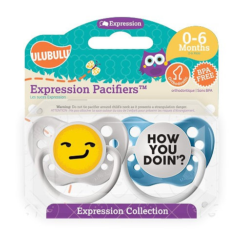 How You Doin' Emoji Pacifier Set