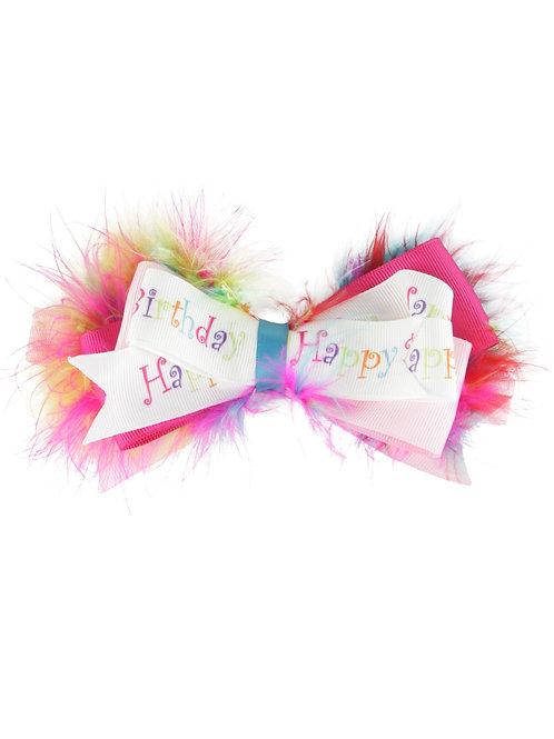 Happy Birthday Headband Bow, Rufflebutts, Baby's First Birthday, Birthday Bow, Birthday Headband