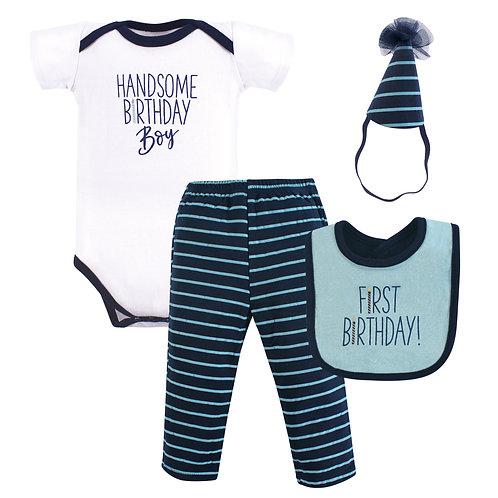 Hudson Baby First Birthday Outfit, Handsome Birthday Boy
