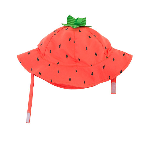 Strawberry sun hat for baby