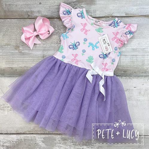 Balloon Animal Collection Purple Tulle Dress