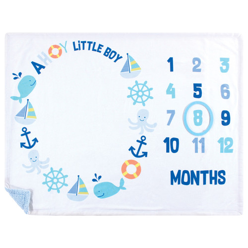 Nautical Milestone Blanket Baby Month Milestones