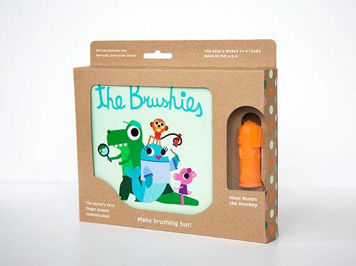 The Brushies Book and Brush Gift Set, Momo the Monkey