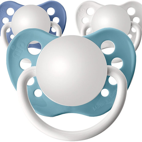 Baby name pacifiers, 3 pack Wave
