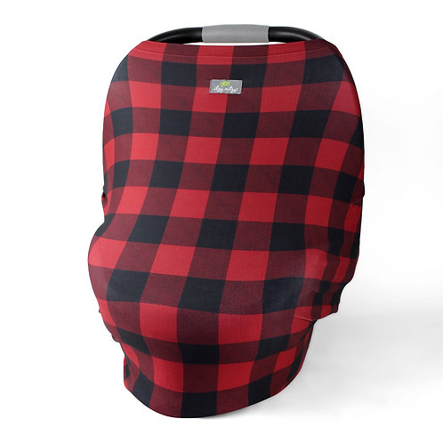Mom Boss 4-in-1 Multi-Use Nursing Cover and Scarf in Buffalo Plaid