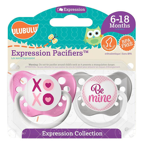 XOXO Be Mine Valentine's Day Pacifier Set