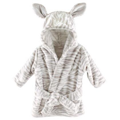 Hudson Baby Plush Zebra Hooded Bath Robe for Baby
