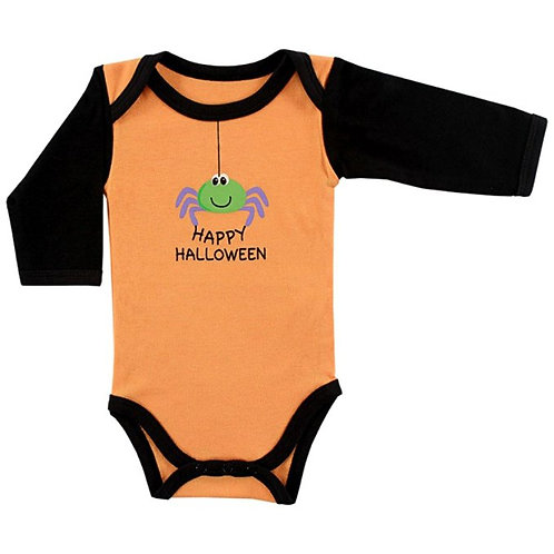 Long Sleeve Happy Halloween Bodysuit