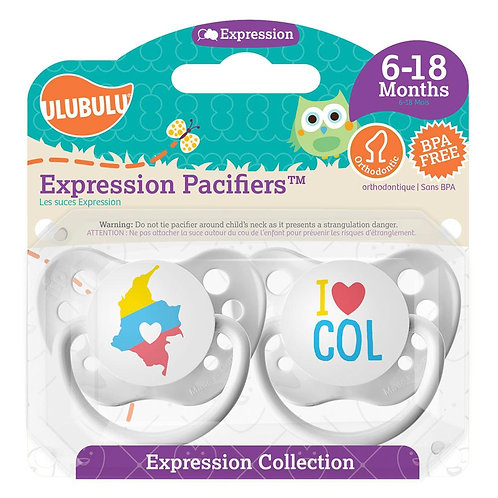 Map of Colombia / I <3 COL Pacifier Set