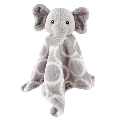 Hudson Baby Grey Elephant Velboa Security Blanket