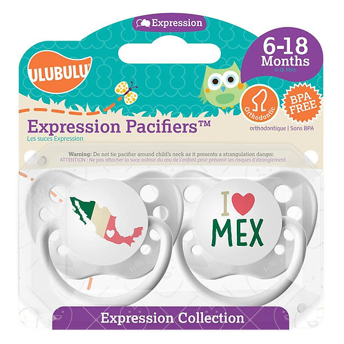 Map of Mexico / I <3 MEX Pacifier Set