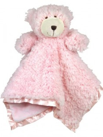 Stephan Baby Pink Bear CuddleBud Blanket