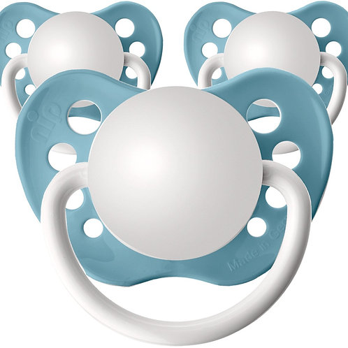 Baby name pacifiers, 3 pack Nile Blue