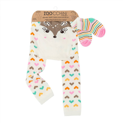 Fiona the Fawn Legging and Sock Set by Zoocchini