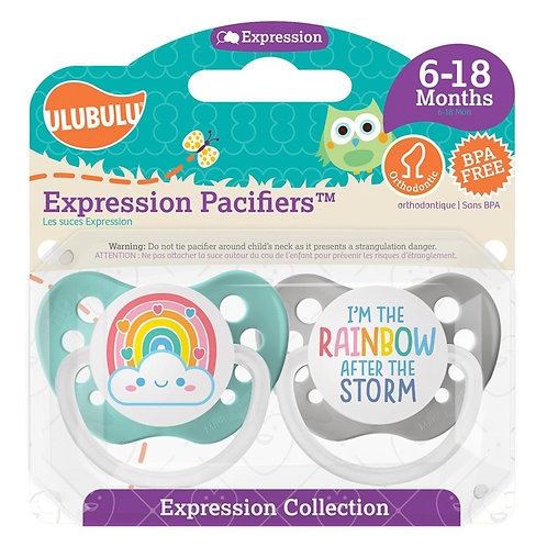 Rainbow After the Storm Pacifier Set