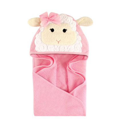 Hudson Baby Little Lamb Animal Face Hooded Towel