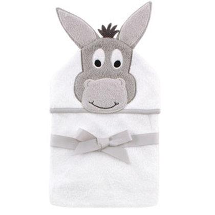 Hudson Baby Happy Donkey Animal Face Hooded Towel