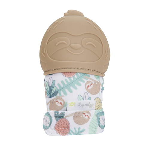 Sloth Itzy Mitt - chewing mitt for teething, teething mitt for babies, teething glove