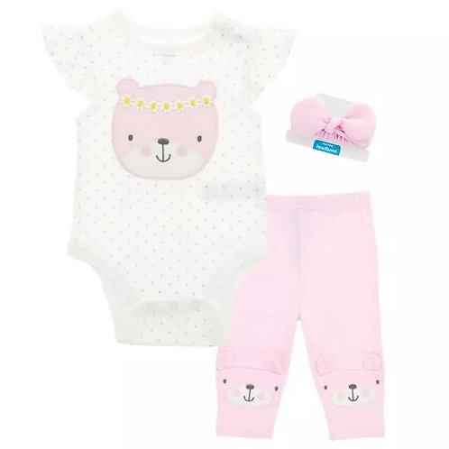 Teddy Bear 4 Piece Outfit for Baby Girl